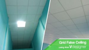 false ceiling using Vdesigner in India