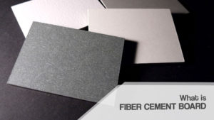 What is fiber cement board?